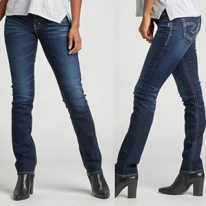 Silver Jeans • Mid-Rise Suki Straight Jeans Sz 29